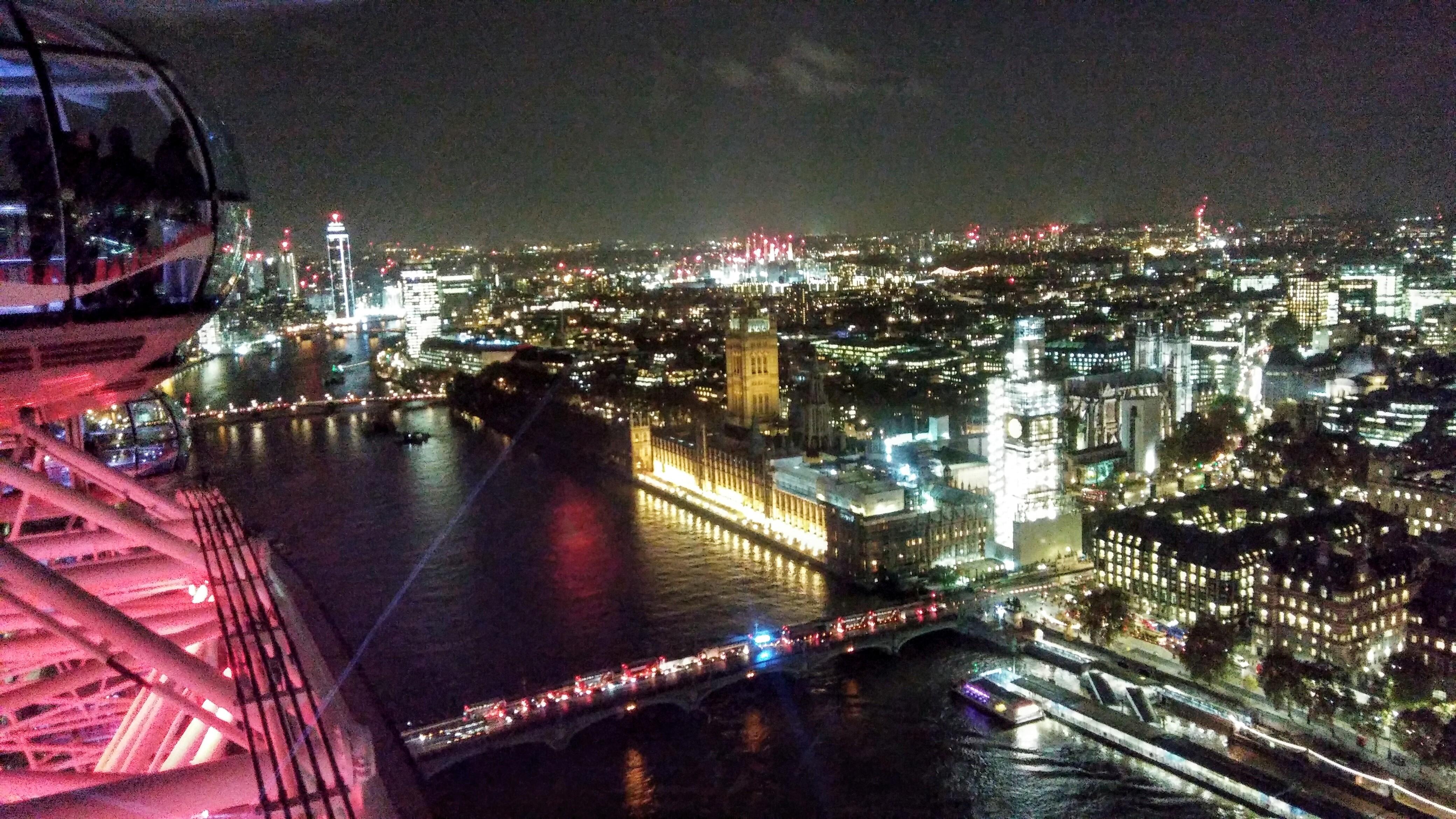 wieczony widok z London Eye