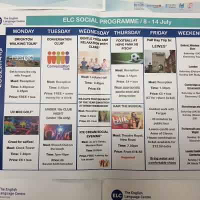 ELC social programme